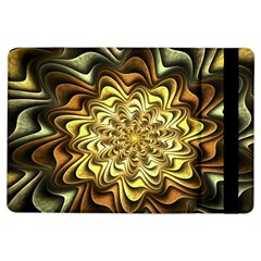 Fractal Flower Petals Gold Ipad Air Flip by Nexatart