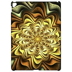 Fractal Flower Petals Gold Apple Ipad Pro 12 9   Hardshell Case