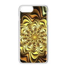 Fractal Flower Petals Gold Apple Iphone 7 Plus Seamless Case (white)