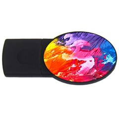 Abstract Art Background Paint Usb Flash Drive Oval (2 Gb) by Nexatart
