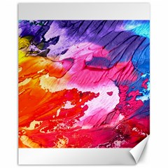 Abstract Art Background Paint Canvas 11  X 14