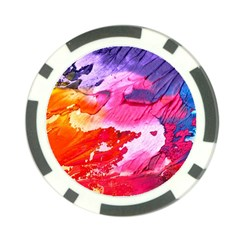 Abstract Art Background Paint Poker Chip Card Guard (10 Pack)