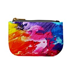 Abstract Art Background Paint Mini Coin Purses by Nexatart