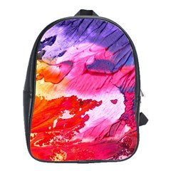 Abstract Art Background Paint School Bag (large) by Nexatart
