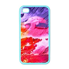 Abstract Art Background Paint Apple Iphone 4 Case (color)