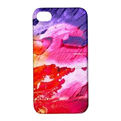 Abstract Art Background Paint Apple Iphone 4/4s Hardshell Case With Stand