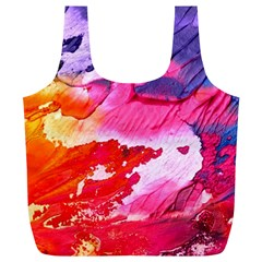 Abstract Art Background Paint Full Print Recycle Bags (l)
