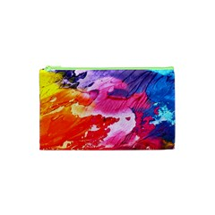 Abstract Art Background Paint Cosmetic Bag (xs)