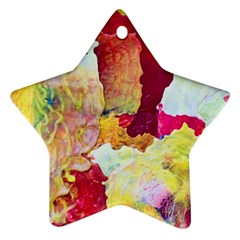 Art Detail Abstract Painting Wax Ornament (star)