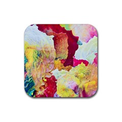 Art Detail Abstract Painting Wax Rubber Square Coaster (4 Pack)  by Nexatart