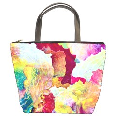 Art Detail Abstract Painting Wax Bucket Bags by Nexatart