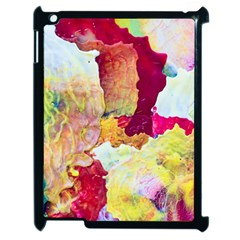 Art Detail Abstract Painting Wax Apple Ipad 2 Case (black) by Nexatart