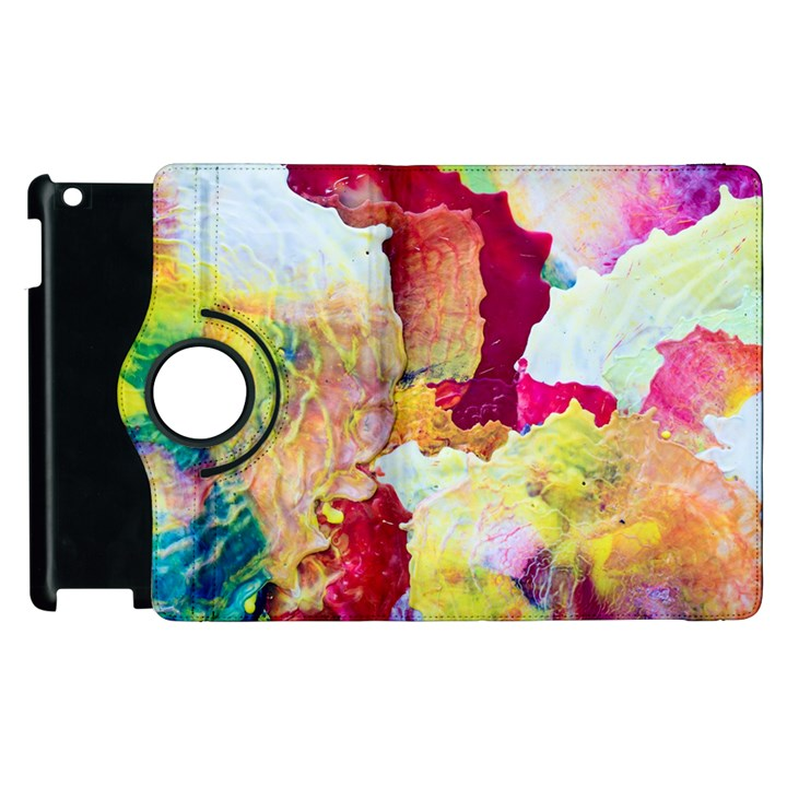 Art Detail Abstract Painting Wax Apple iPad 2 Flip 360 Case