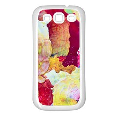 Art Detail Abstract Painting Wax Samsung Galaxy S3 Back Case (white)