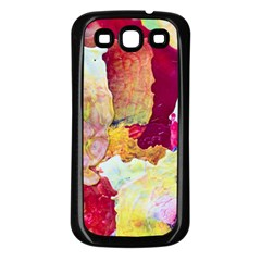 Art Detail Abstract Painting Wax Samsung Galaxy S3 Back Case (black) by Nexatart