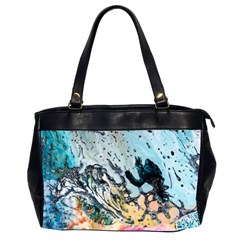 Abstract Structure Background Wax Office Handbags (2 Sides)