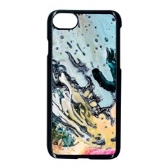 Abstract Structure Background Wax Apple Iphone 8 Seamless Case (black)