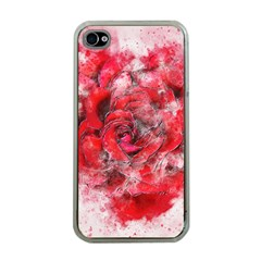 Flower Roses Heart Art Abstract Apple Iphone 4 Case (clear)