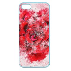 Flower Roses Heart Art Abstract Apple Seamless Iphone 5 Case (color)