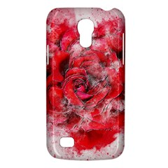 Flower Roses Heart Art Abstract Galaxy S4 Mini