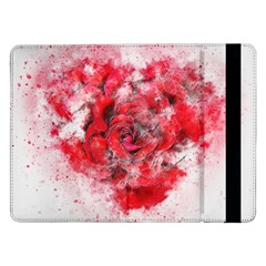 Flower Roses Heart Art Abstract Samsung Galaxy Tab Pro 12 2  Flip Case