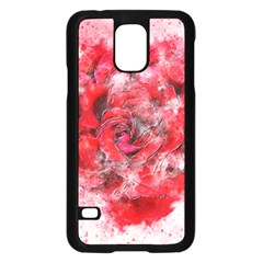 Flower Roses Heart Art Abstract Samsung Galaxy S5 Case (black)