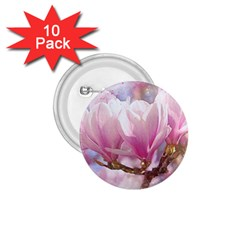 Flowers Magnolia Art Abstract 1 75  Buttons (10 Pack)