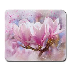 Flowers Magnolia Art Abstract Large Mousepads by Nexatart