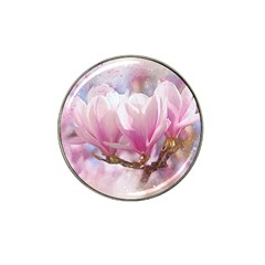 Flowers Magnolia Art Abstract Hat Clip Ball Marker by Nexatart
