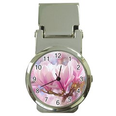 Flowers Magnolia Art Abstract Money Clip Watches