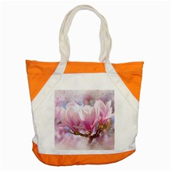 Flowers Magnolia Art Abstract Accent Tote Bag by Nexatart
