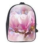 Flowers Magnolia Art Abstract School Bag (Large) Front