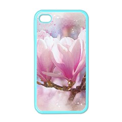 Flowers Magnolia Art Abstract Apple Iphone 4 Case (color) by Nexatart