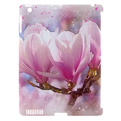 Flowers Magnolia Art Abstract Apple Ipad 3/4 Hardshell Case (compatible With Smart Cover) by Nexatart