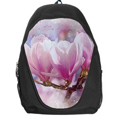 Flowers Magnolia Art Abstract Backpack Bag