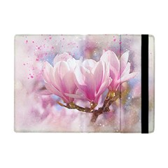 Flowers Magnolia Art Abstract Apple Ipad Mini Flip Case by Nexatart