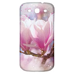 Flowers Magnolia Art Abstract Samsung Galaxy S3 S Iii Classic Hardshell Back Case