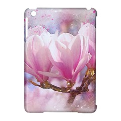 Flowers Magnolia Art Abstract Apple Ipad Mini Hardshell Case (compatible With Smart Cover) by Nexatart
