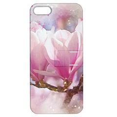 Flowers Magnolia Art Abstract Apple Iphone 5 Hardshell Case With Stand by Nexatart