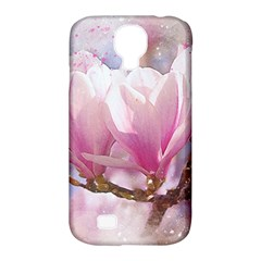 Flowers Magnolia Art Abstract Samsung Galaxy S4 Classic Hardshell Case (pc+silicone) by Nexatart