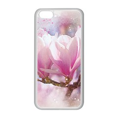 Flowers Magnolia Art Abstract Apple Iphone 5c Seamless Case (white)