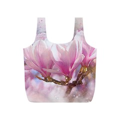 Flowers Magnolia Art Abstract Full Print Recycle Bags (s)  by Nexatart