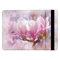 Flowers Magnolia Art Abstract Samsung Galaxy Tab Pro 12 2  Flip Case by Nexatart