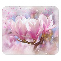Flowers Magnolia Art Abstract Double Sided Flano Blanket (small)