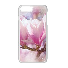 Flowers Magnolia Art Abstract Apple Iphone 7 Plus Seamless Case (white)