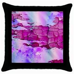 Background Crack Art Abstract Throw Pillow Case (black)