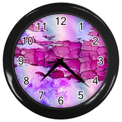 Background Crack Art Abstract Wall Clocks (black)