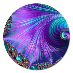 Abstract Fractal Fractal Structures Magnet 5  (round) by Nexatart