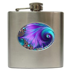 Abstract Fractal Fractal Structures Hip Flask (6 Oz) by Nexatart