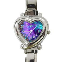 Abstract Fractal Fractal Structures Heart Italian Charm Watch